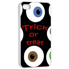 Trick Or Treat  Apple Iphone 4/4s Seamless Case (white) by Valentinaart