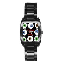 Trick Or Treat  Stainless Steel Barrel Watch by Valentinaart