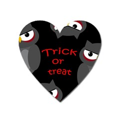 Trick Or Treat   Owls Heart Magnet by Valentinaart