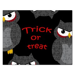 Trick Or Treat   Owls Rectangular Jigsaw Puzzl by Valentinaart