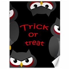 Trick Or Treat   Owls Canvas 36  X 48   by Valentinaart