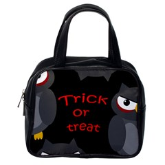 Trick Or Treat   Owls Classic Handbags (one Side) by Valentinaart