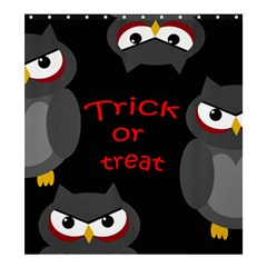 Trick Or Treat   Owls Shower Curtain 66  X 72  (large)  by Valentinaart