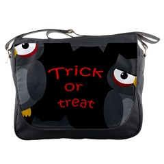 Trick Or Treat   Owls Messenger Bags by Valentinaart