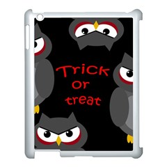 Trick Or Treat   Owls Apple Ipad 3/4 Case (white) by Valentinaart