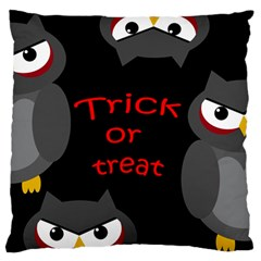 Trick Or Treat   Owls Large Flano Cushion Case (two Sides) by Valentinaart