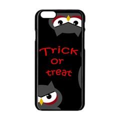 Trick Or Treat   Owls Apple Iphone 6/6s Black Enamel Case by Valentinaart