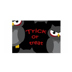 Trick Or Treat   Owls Satin Wrap by Valentinaart
