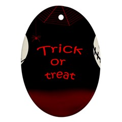 Trick Or Treat 2 Ornament (oval)  by Valentinaart