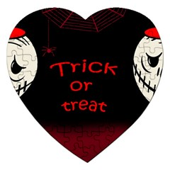 Trick Or Treat 2 Jigsaw Puzzle (heart) by Valentinaart