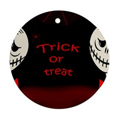 Trick Or Treat 2 Round Ornament (two Sides)  by Valentinaart