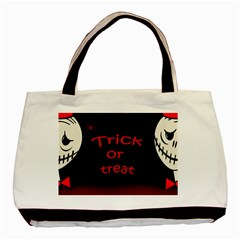 Trick Or Treat 2 Basic Tote Bag (two Sides) by Valentinaart