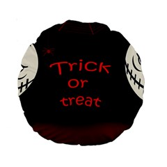 Trick Or Treat 2 Standard 15  Premium Round Cushions by Valentinaart
