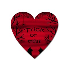Trick Or Treat   Black Cat Heart Magnet by Valentinaart