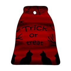 Trick Or Treat   Black Cat Bell Ornament (2 Sides) by Valentinaart