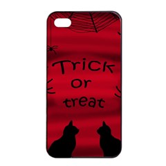 Trick Or Treat   Black Cat Apple Iphone 4/4s Seamless Case (black) by Valentinaart