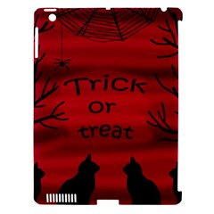 Trick Or Treat   Black Cat Apple Ipad 3/4 Hardshell Case (compatible With Smart Cover) by Valentinaart