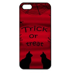 Trick Or Treat   Black Cat Apple Iphone 5 Seamless Case (black) by Valentinaart
