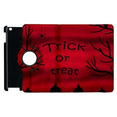 Trick Or Treat   Black Cat Apple Ipad 2 Flip 360 Case by Valentinaart