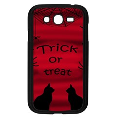 Trick Or Treat   Black Cat Samsung Galaxy Grand Duos I9082 Case (black) by Valentinaart