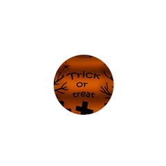 Trick Or Treat   Cemetery  1  Mini Buttons