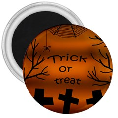 Trick Or Treat   Cemetery  3  Magnets by Valentinaart