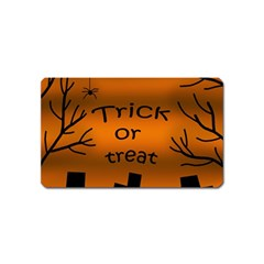 Trick Or Treat   Cemetery  Magnet (name Card) by Valentinaart