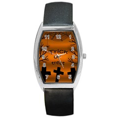 Trick Or Treat   Cemetery  Barrel Style Metal Watch by Valentinaart