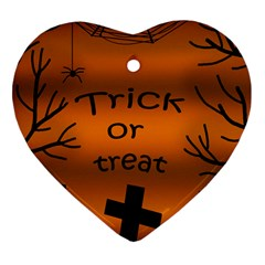 Trick Or Treat   Cemetery  Heart Ornament (2 Sides) by Valentinaart
