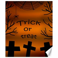 Trick Or Treat   Cemetery  Canvas 8  X 10  by Valentinaart