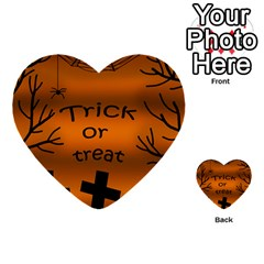 Trick Or Treat   Cemetery  Multi Purpose Cards (heart)  by Valentinaart