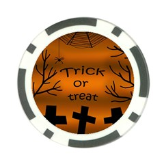 Trick Or Treat   Cemetery  Poker Chip Card Guards (10 Pack)  by Valentinaart
