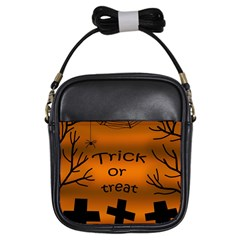 Trick Or Treat   Cemetery  Girls Sling Bags by Valentinaart