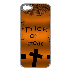 Trick Or Treat   Cemetery  Apple Iphone 5 Case (silver) by Valentinaart