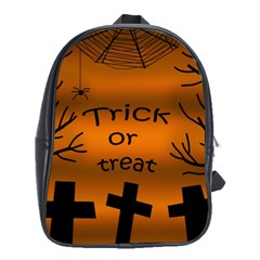Trick Or Treat   Cemetery  School Bags (xl)  by Valentinaart