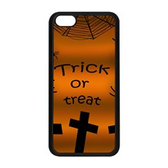 Trick Or Treat   Cemetery  Apple Iphone 5c Seamless Case (black) by Valentinaart