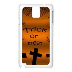 Trick Or Treat   Cemetery  Samsung Galaxy Note 3 N9005 Case (white) by Valentinaart