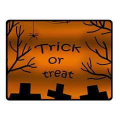 Trick Or Treat   Cemetery  Double Sided Fleece Blanket (small)  by Valentinaart