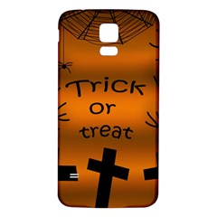 Trick Or Treat   Cemetery  Samsung Galaxy S5 Back Case (white) by Valentinaart