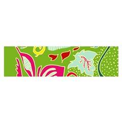 Green Organic Abstract Satin Scarf (Oblong)
