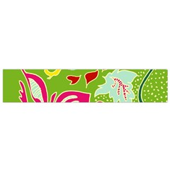 Green Organic Abstract Flano Scarf (small) by DanaeStudio
