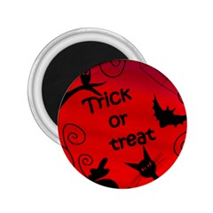 Trick Or Treat   Halloween Landscape 2 25  Magnets by Valentinaart