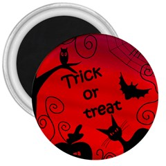 Trick Or Treat   Halloween Landscape 3  Magnets by Valentinaart
