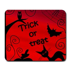 Trick Or Treat   Halloween Landscape Large Mousepads by Valentinaart