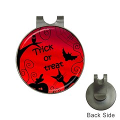 Trick Or Treat   Halloween Landscape Hat Clips With Golf Markers by Valentinaart