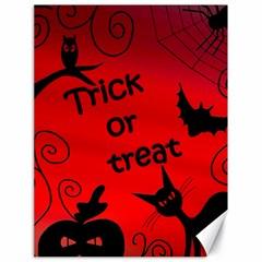 Trick Or Treat   Halloween Landscape Canvas 18  X 24   by Valentinaart