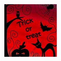 Trick Or Treat   Halloween Landscape Medium Glasses Cloth (2 Side) by Valentinaart