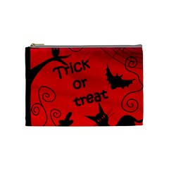 Trick Or Treat   Halloween Landscape Cosmetic Bag (medium)  by Valentinaart
