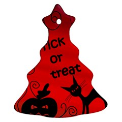 Trick Or Treat   Halloween Landscape Ornament (christmas Tree) by Valentinaart