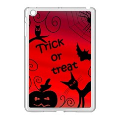 Trick Or Treat   Halloween Landscape Apple Ipad Mini Case (white) by Valentinaart